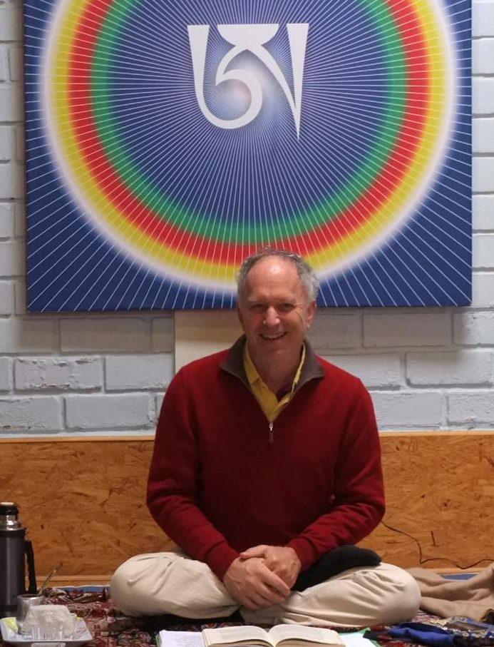 Steve Lansberg en un taller dictado en la comunidad Dzogchen Norbulink del Perú.